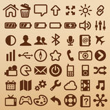 Mobilni symbole Obrazy Stock