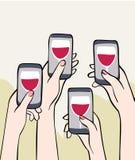 Mobilny świętowanie Zdjęcie Stock