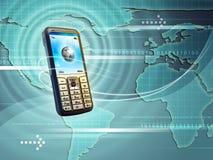 mobilny świat royalty ilustracja