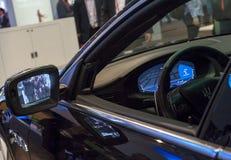 MOBILNY ŚWIATOWY kongres 2015 - NOWA samochód technologia obrazy royalty free