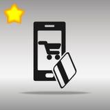 Mobilny bankowości czerni ikony guzika loga symbol Fotografia Stock