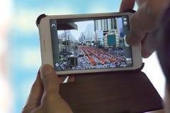 Mobilny bierze fotografię Obrazy Stock
