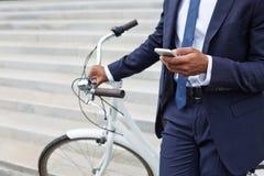 Mobilny biznesmen Zdjęcia Stock