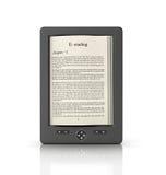 Mobilny czytania i literatury biblioteki pojęcie Obrazy Royalty Free