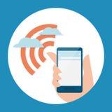 Mobilny i interent sygnał ilustracja wektor