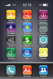 mobilny ikona set s Zdjęcie Stock
