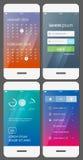Mobilny interfejsu użytkownika szablon royalty ilustracja