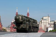 Mobilny jądrowy międzykontynentalny pocisk balistyczny rT-2UTTKh topol-M Obraz Stock