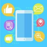 Mobilny Marketingowy sztandar Telefon z ikony poczta Obraz Royalty Free