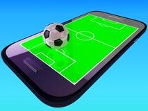 Mobilny mecz piłkarski Obraz Stock