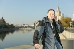mobilny Moscow telefonu Russia turysta Zdjęcie Stock