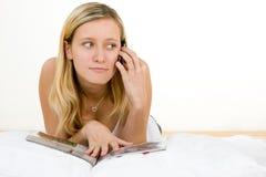 mobilny nastolatek Fotografia Stock