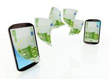 Mobilny przelew pieniędzy Obrazy Royalty Free