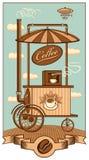 Mobilny sklep z kawą ilustracja wektor