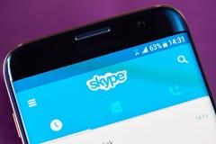 Mobilny skype zastosowanie Obraz Royalty Free