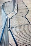 Mobilny stali ogrodzenie Zdjęcia Royalty Free