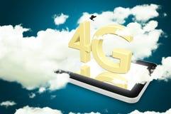 Mobilny telekomunikacyjny komórkowy wysoki prędkość dane związku przeciw Zdjęcie Royalty Free