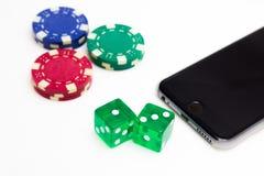Mobilny Uprawiać hazard fotografia stock