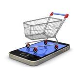 mobilny zakupy Fotografia Stock