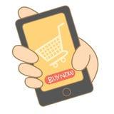 Mobilny zakupy Zdjęcia Stock