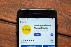 Mobilny zastosowanie dla rozkazywać lotniczych bilety obraz stock