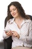 mobilt använda för telefon arkivbilder