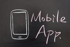 Mobilt app-begrepp Arkivbild