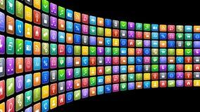 Mobilt applikationbegrepp royaltyfri illustrationer