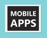 Mobilt appsbegrepp royaltyfri illustrationer