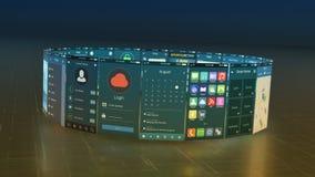 Mobilt appsbegrepp vektor illustrationer
