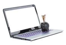 Mobilt bankrörelsebegrepp arkivfoto