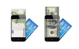 Mobilt betalningbegrepp Royaltyfri Fotografi