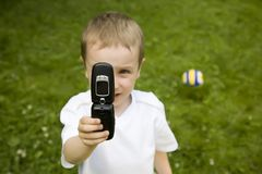 mobilt foto Arkivbild