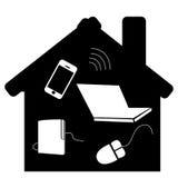 Mobilt hus Arkivfoto