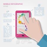 Mobilt infographic begrepp Arkivbilder