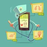 Mobilt online-vård- diagnostiskt begrepp vektor illustrationer