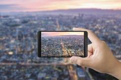 mobilt ta för foto Arkivfoto