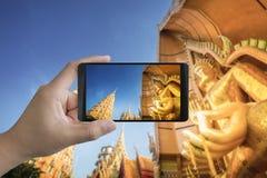 mobilt ta för foto Arkivbild
