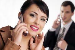 mobilt telefonbarn för chefer Arkivbild