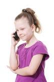 mobilt telefonbarn för flicka Arkivbild