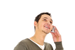 mobilt telefonbarn för man Arkivfoton