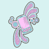 Mobilt telefonklotter stock illustrationer