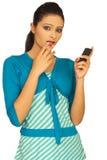 mobilt telefonsamtal Royaltyfria Foton