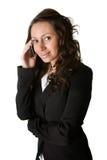 mobilt telefonsamtal för affärskvinna royaltyfria foton