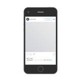 Mobiltelefon med app stock illustrationer