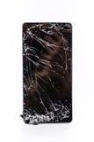 Mobiltelefon med den brutna skärmen Royaltyfria Bilder