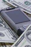 Mobiltelefon mit Dollar Lizenzfreies Stockfoto