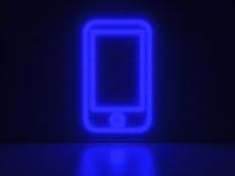 Mobiltelefon - serieneontecken Royaltyfria Foton