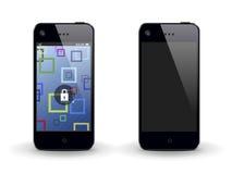 Mobiltelefon två stock illustrationer