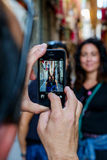 Mobiltelefonbild Arkivfoton